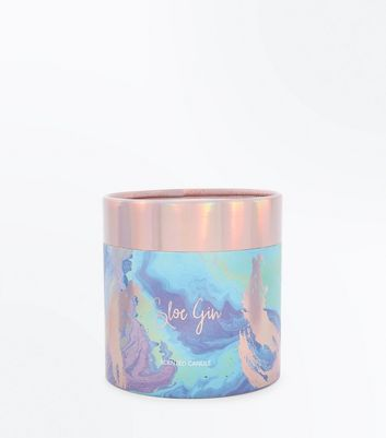 Multi-Coloured Sloe Gin Scented Candle