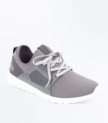 Grey Runner Lace Up Trainers