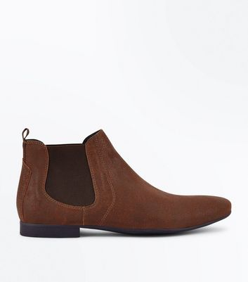 Tan Pointed Toe Chelsea Boots