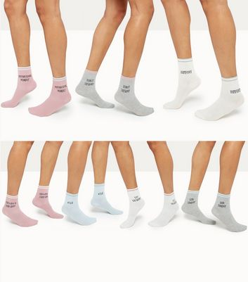7 Pack 'Days of the week' Slogan Socks