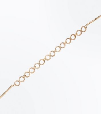 Gold Diamante Embellished Circles Choker