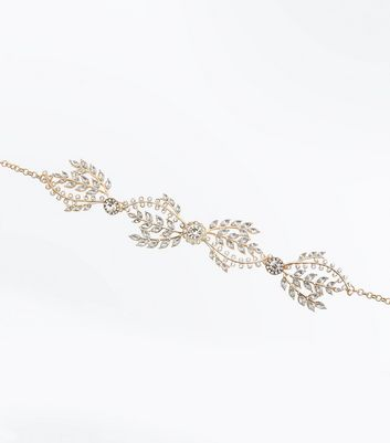 Gold Embellished Leaf Choker