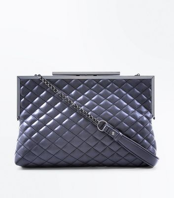 Black Quilted Oversized Clutch Bag