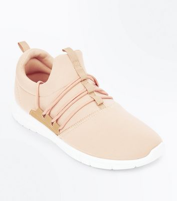 Stone Lace Up Runner Trainers