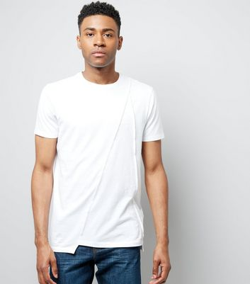 White Panel Front T-Shirt
