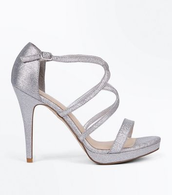 Silver Comfort Shimmer Strappy Sandals