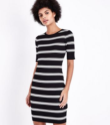 Tall Black Stripe Jumper Dress