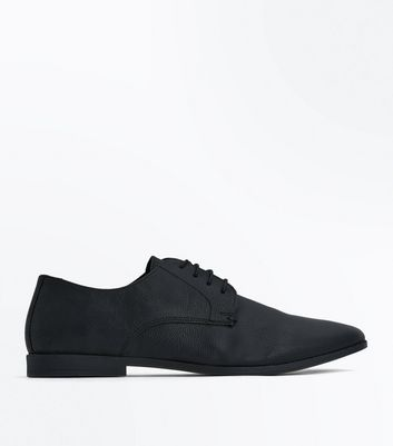 Black Leather Gibson Shoes