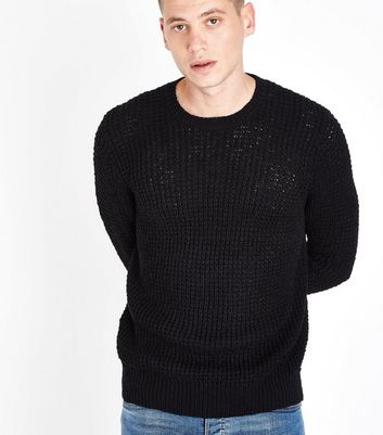 Black Loose Knit Jumper