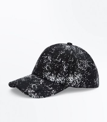 Black Paint Print Cap