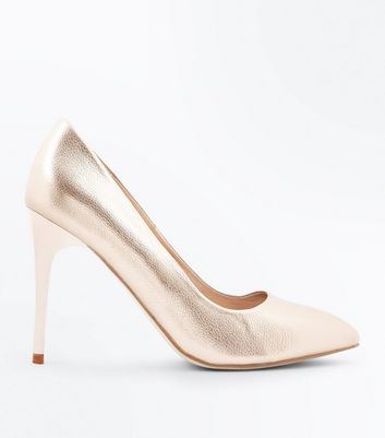 Rose Gold Metallic Pointed Courts