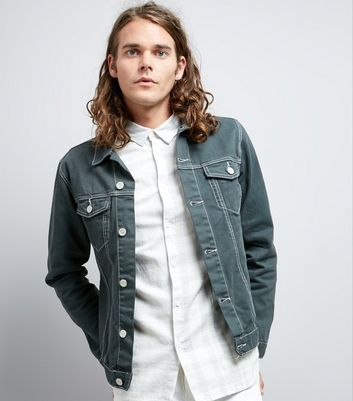 New look acid wash denim jacket
