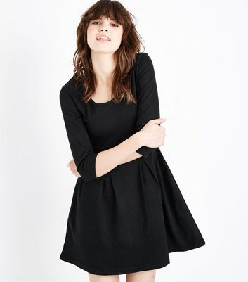 Mela Black Denim Dress
