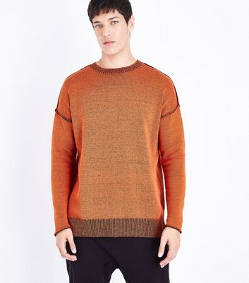 Red Reverse Knit Jumper