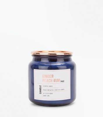 Blue Ginger Peach Rum Scented Candle