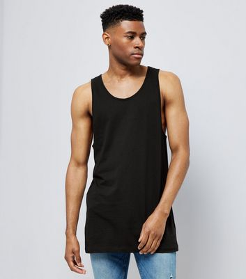 Black Drop Arm Vest Top