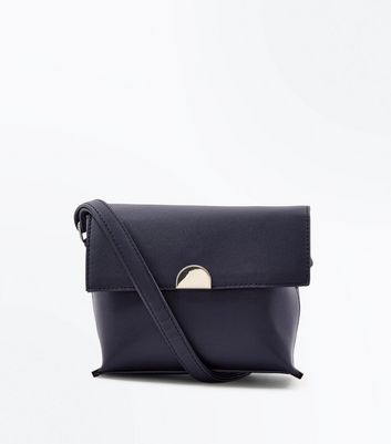 Black Ring Front Cross Body Bag