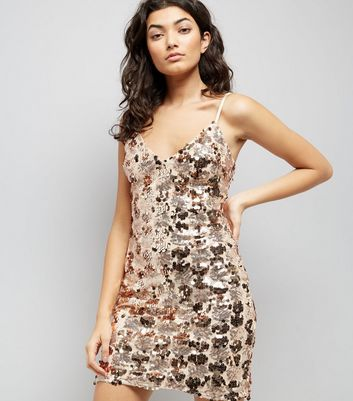 Parisian Shell Pink Sequin Embellished Dress