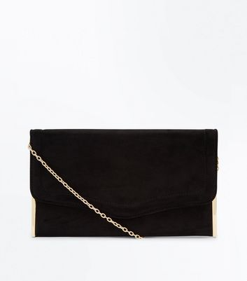 Black Flat Clutch Bag