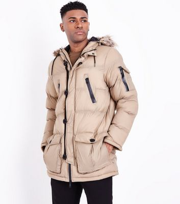 Stone Quilted Parka Jacket