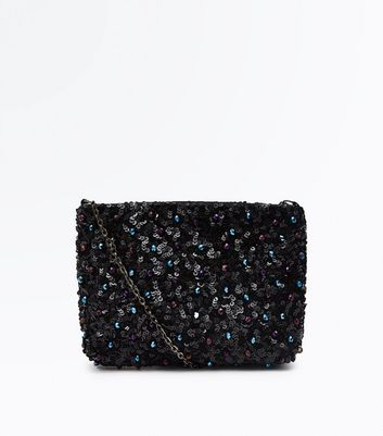Multi Colour Beaded Flat Clutch Bag