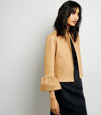 Stone Bell Sleeve Suedette Jacket