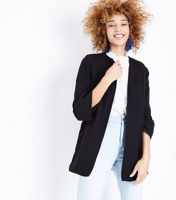 Mela Black Bell Sleeve Jacket