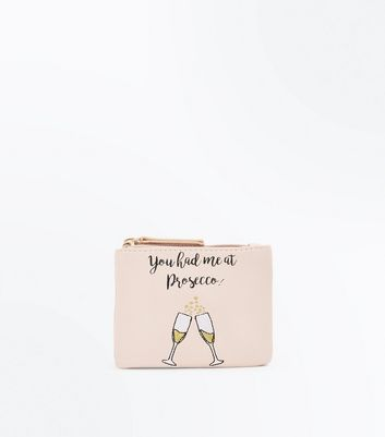 Nude Prosecco Slogan Coin Purse