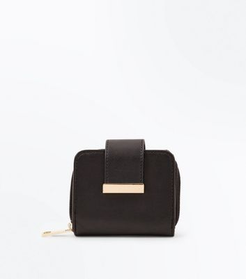 Black Panel Front Small Purse