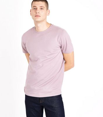 Light Purple Grey Crew Neck T-Shirt