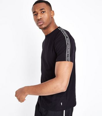 Black Tape Side Sports Top