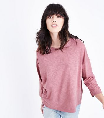 Pink Batwing Sleeve T-Shirt
