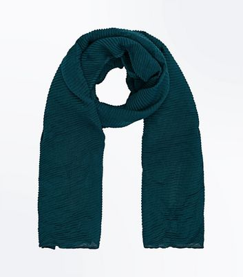 Teal Ribbed Scarf