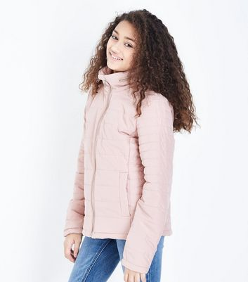 Teens Pale Pink Lightweight Puffer Jacket