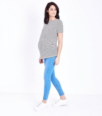 Maternity Bright Blue Under Bump Jeggings