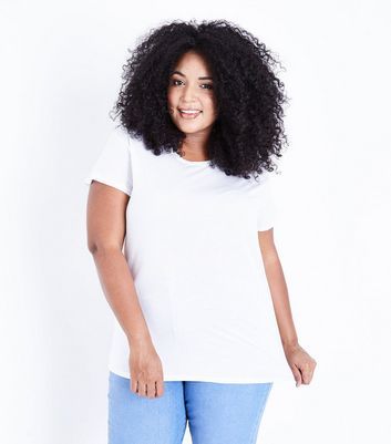Curves White Oversized T-Shirt