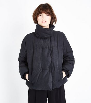 Black Boxy Puffer Jacket
