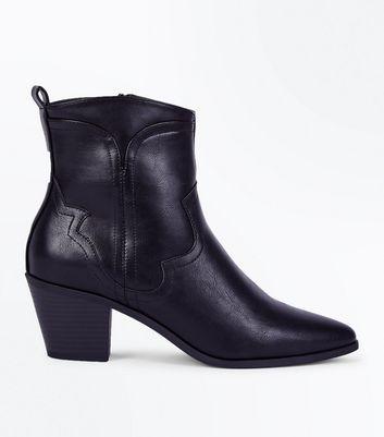 New Look Wide - Bottines pointues style western - NoirNew Look 4mlROnOL