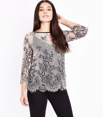 Maternity Shell Pink 2 Tone Lace Bell Sleeve Top