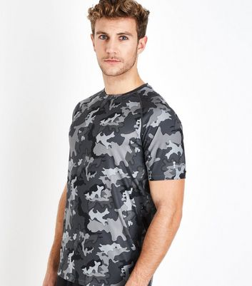Dark Grey Camo Short Sleeve T-Shirt