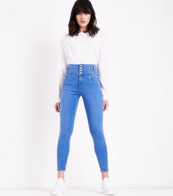 Bright Blue High Waist Skinny Yazmin Jeans