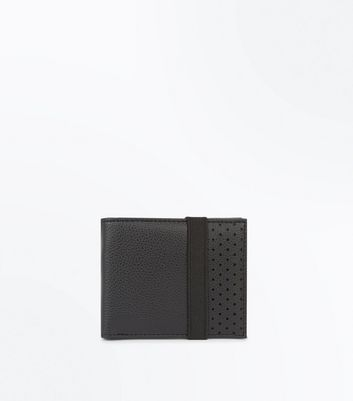 Black Elasticated Perforated Wallet