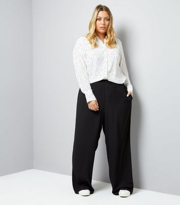 Pantalon large Curves noir