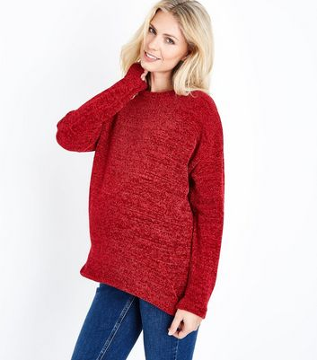 Maternity Red Chenille Jumper