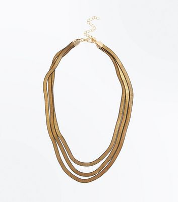 Gold Layered Slinky Chain Necklace