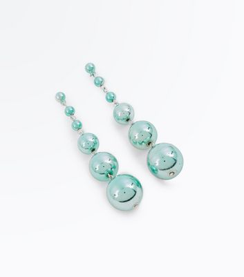 Light Green Orb Drop Earrings
