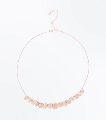 Rose Gold Teardrop Circle Necklace
