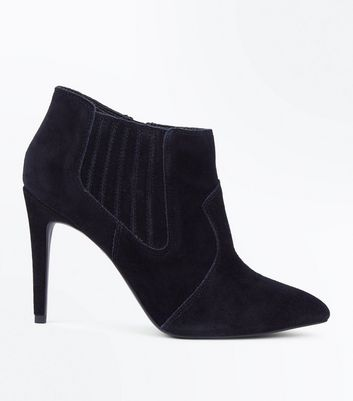 Black Suede Pointed Western Shoe Boots