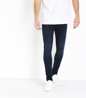 Marineblaue superenge Skinny Jeans