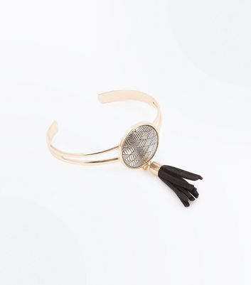 Gold Disc Tassel Detail Bracelet